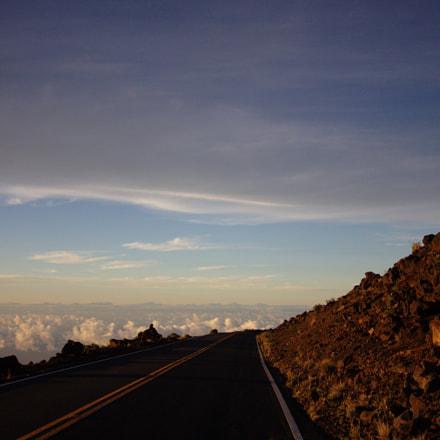 Road to sunset, Haleakala, Canon EOS 600D, Canon EF-S 10-22mm f/3.5-4.5 USM