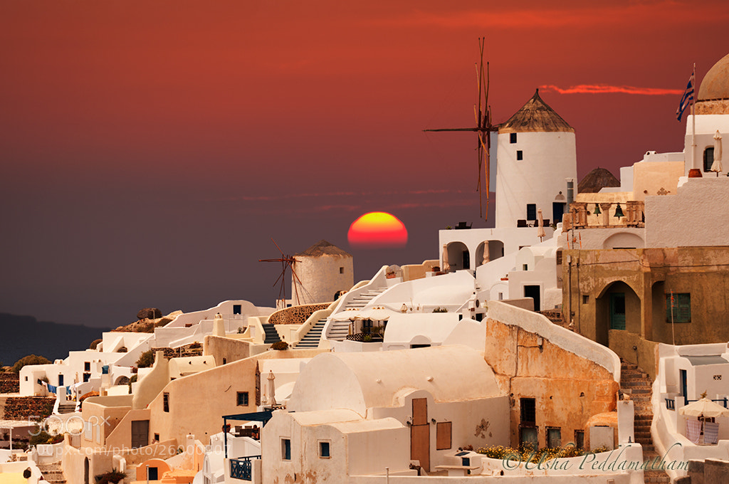 Photograph Santorini sunset. by usha peddamatham on 500px