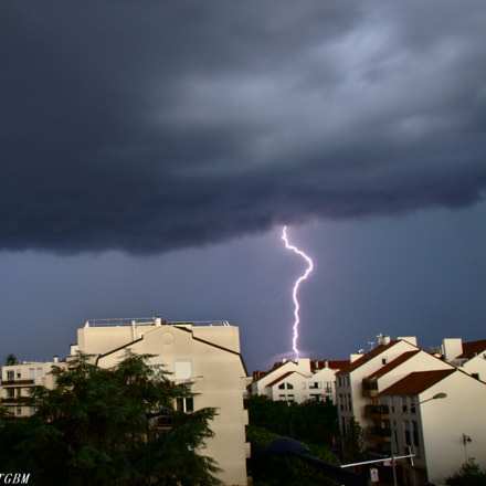 In the storm, Canon EOS 700D