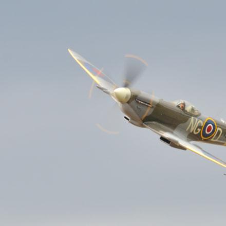 Spitfire Mk XVI, Nikon D300S, Sigma APO 100-300mm F4 EX IF HSM