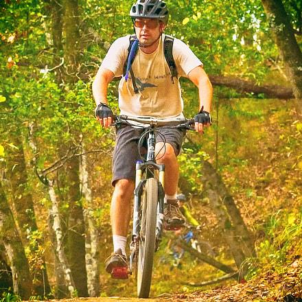 Mountain Biker, Nikon D810, AF-S Nikkor 35mm f/1.4G