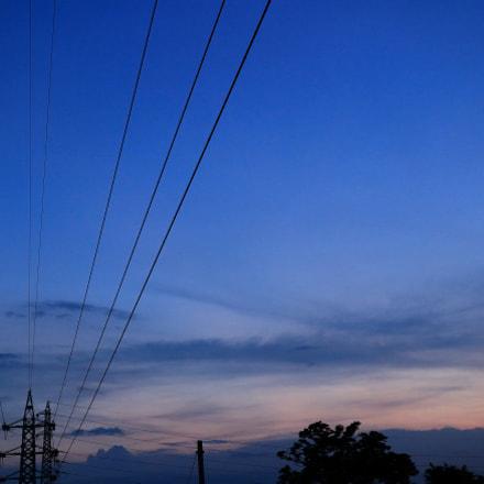 Dusk sky, Canon EOS KISS X7, Canon EF-S 24mm f/2.8 STM