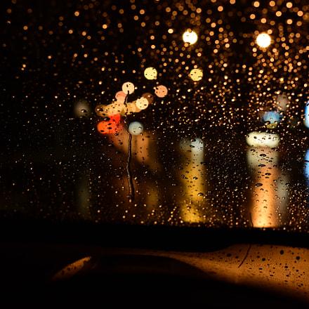Drivin' in the rain, Nikon D750, AF-S Nikkor 50mm f/1.4G