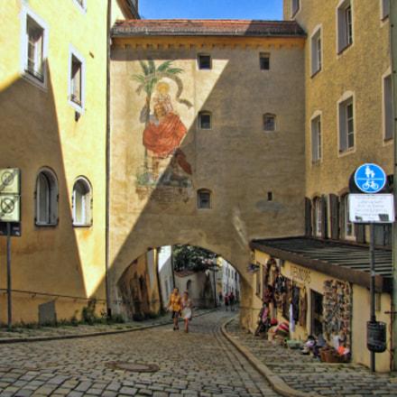 Pfaffengasse Passau Bavaria, Canon POWERSHOT SX1 IS