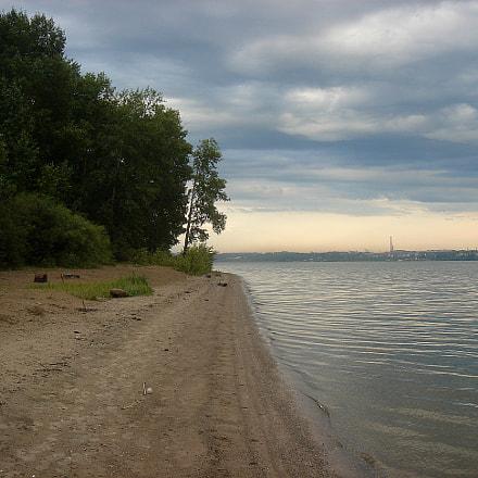 The beach in Novosibirsk, Sony DSC-T7