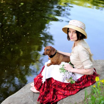 Дама с собачкой..., Nikon D700, AF Zoom-Nikkor 80-200mm f/2.8D ED
