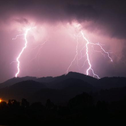 Night storm in the, Pentax K-30, smc PENTAX-DA 18-135mm F3.5-5.6 ED AL [IF] DC WR