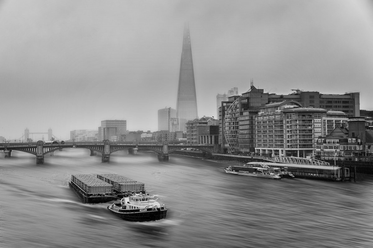 Photograph Barge & Shard by Michael Avory on 500px