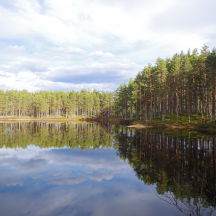 Beautiful lake in Dalarna, Pentax K-500, smc PENTAX-DA L 18-55mm F3.5-5.6