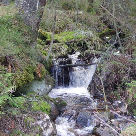Small waterfall in a, Pentax K-500, smc PENTAX-DA L 18-55mm F3.5-5.6