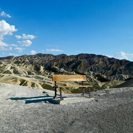 desert bench, Nikon COOLPIX L120