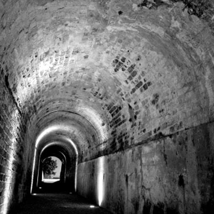 A tunnel by night, Fujifilm FinePix S100FS