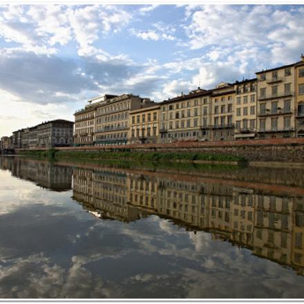 on the river Arno, Canon EOS 500D
