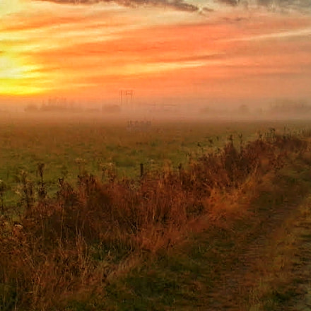 Sunrise over the countryside, Samsung Galaxy S3 Mini