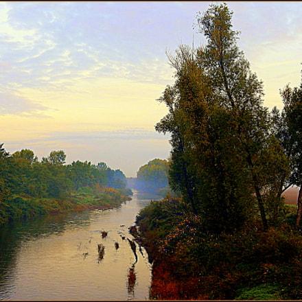 Autunno, mattina presto lungo, Nikon COOLPIX S9700