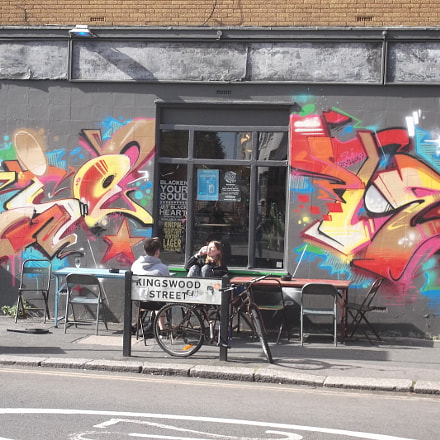 Pubside Graffiti Central Brighton (), Fujifilm FinePix JV250