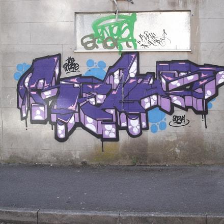 Purple Block Graffiti Old, Fujifilm FinePix JV250