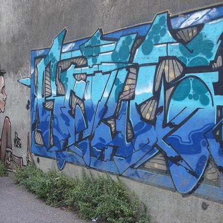 Two Blue Graffiti Old, Fujifilm FinePix JV250