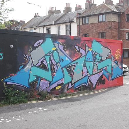Blue Green Grey Graffiti, Fujifilm FinePix JV250