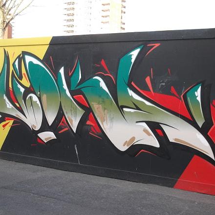 Green Vodka Graffiti Old, Fujifilm FinePix JV250
