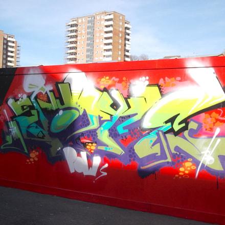 Red Wall Graffiti Old, Fujifilm FinePix JV250