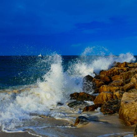 Crashing Waves @ Alabama Point, Panasonic DMC-ZS100