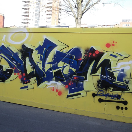 Blue Black Yellow Graffiti, Fujifilm FinePix JV250