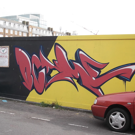 Red Black Yellow Graffiti, Fujifilm FinePix JV250
