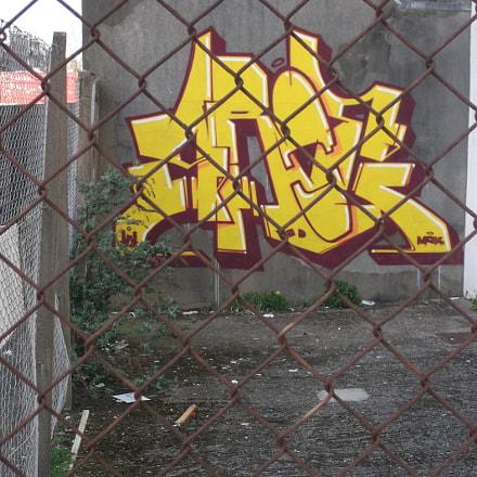 Bright Yellow Graffiti Old, Fujifilm FinePix JV250