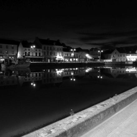 Port-en-Bessin night reflection, Panasonic DMC-TZ36