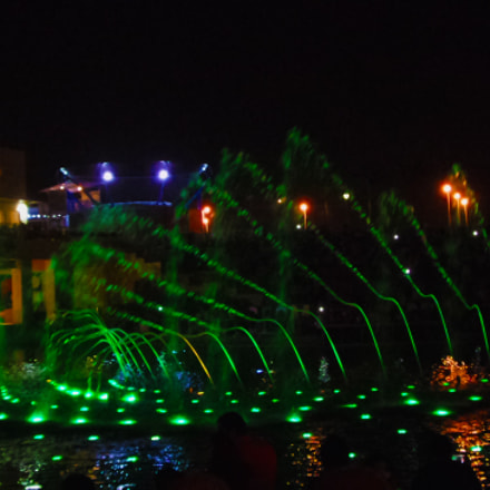 Light and water show, Samsung Galaxy K Zoom