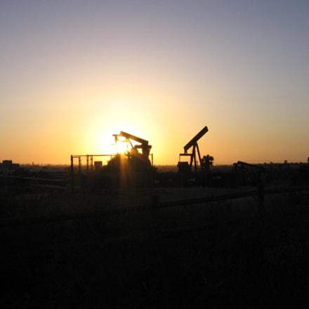Oil Derrick Sunset, Canon POWERSHOT A510