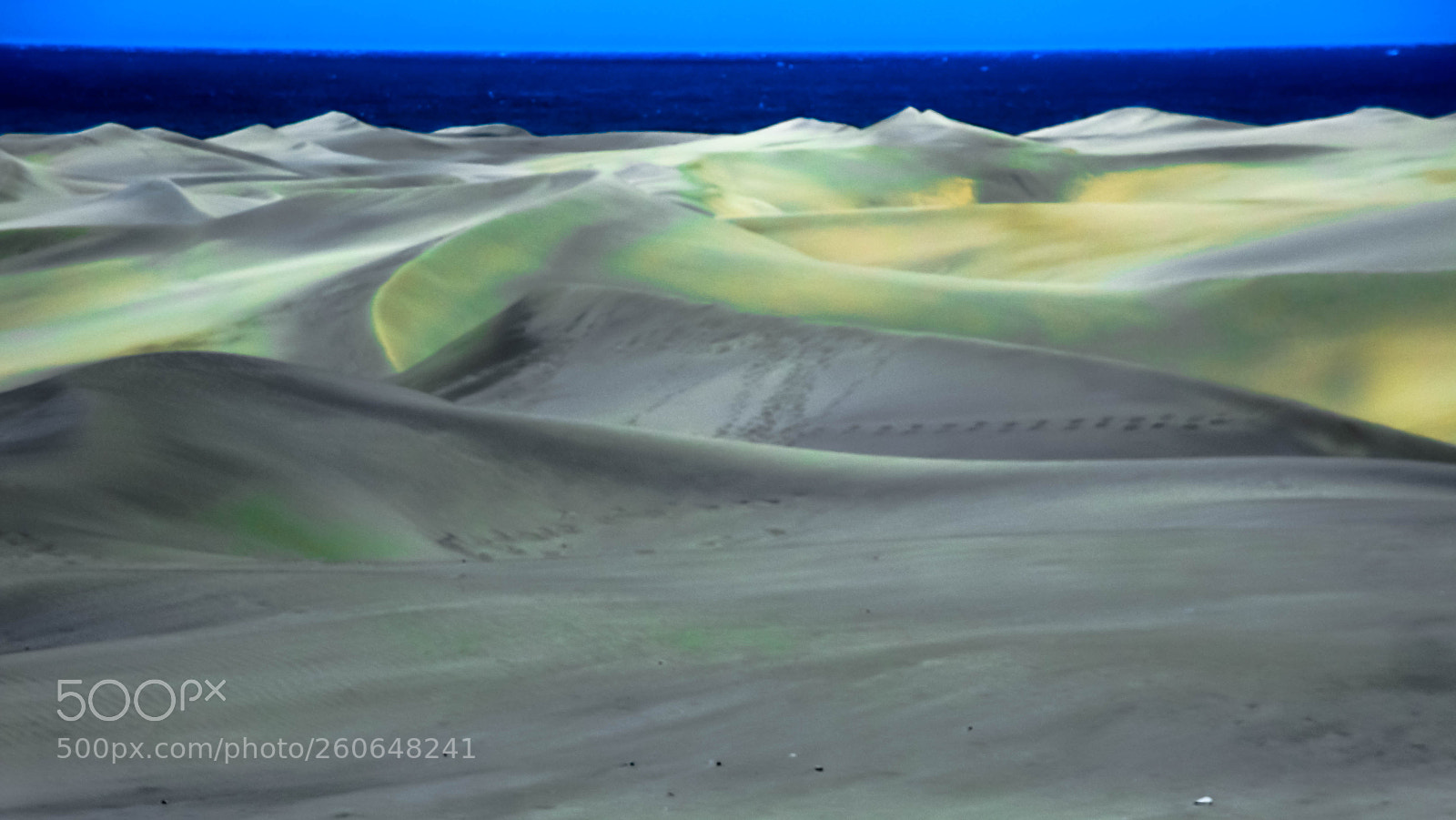 SEA glowing sand dunes