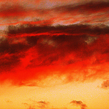 burning sky, Panasonic DMC-SZ3