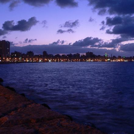 Sunset at Alexandria's Corniche, Panasonic DMC-FZ20