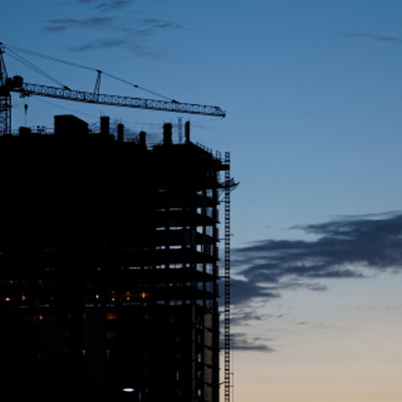 Tower Crane Sunrise, Canon EOS REBEL T7I