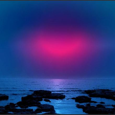 sunset, Canon POWERSHOT A95