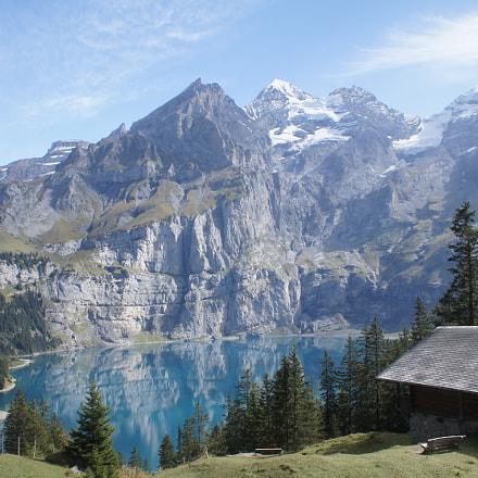 Oeschinen Lake, Switzerland, Sony SLT-A33, Minolta/Sony AF DT 18-70mm F3.5-5.6 (D)