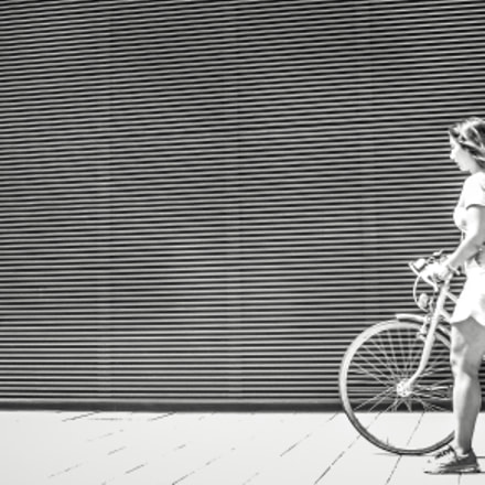 girl with bicycle, Panasonic DMC-TZ41