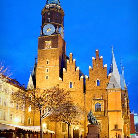 Town Hall in Vroclavia, Nikon COOLPIX L610