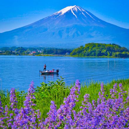 Fisherman and Mt. Fuji, Canon POWERSHOT S120