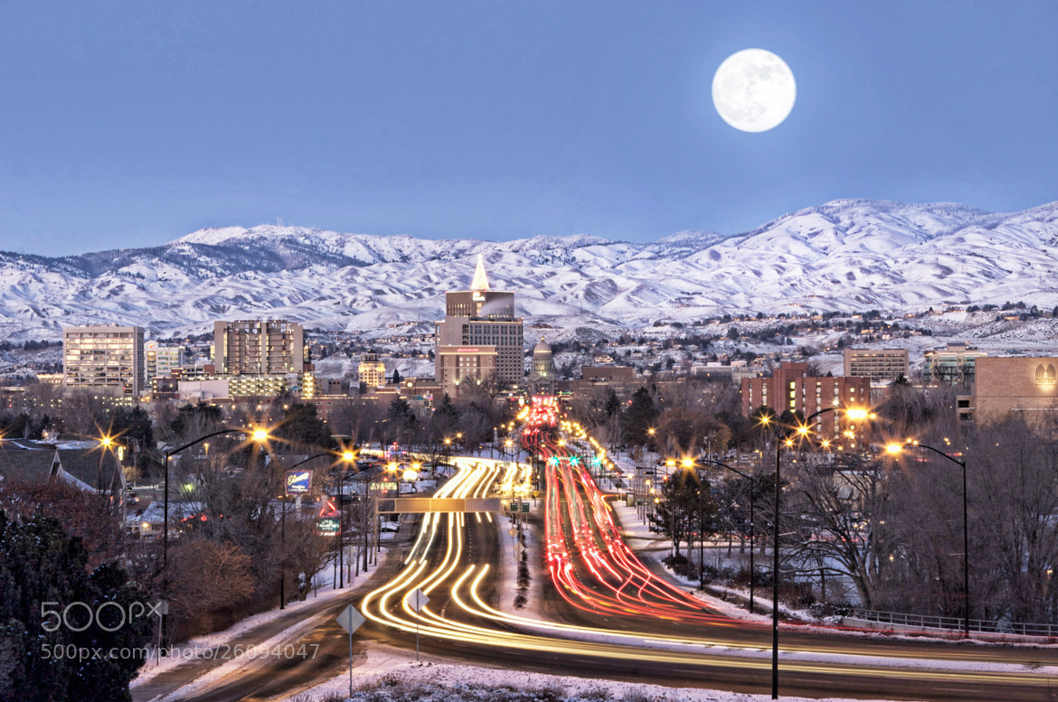 Photograph Boise Moon by Scott McDaniel on 500px