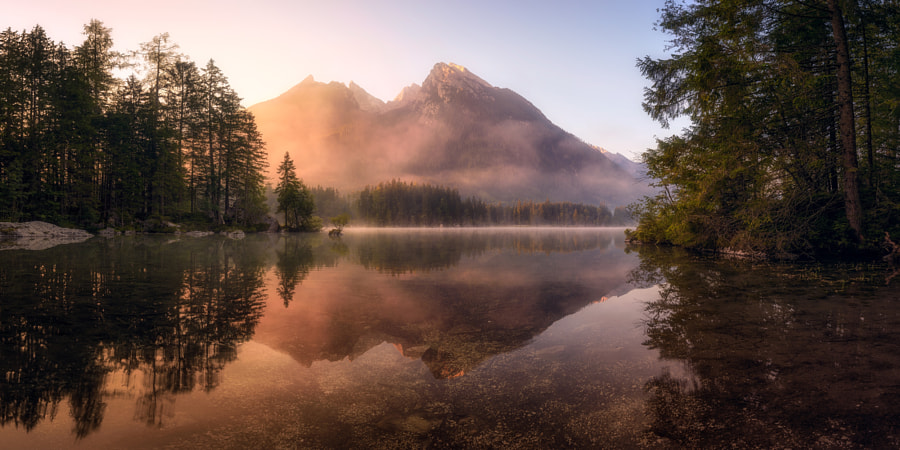 A Glowing Morning in the Alps by Daniel Fleischhacker on 500px.com