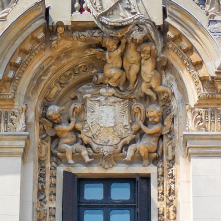 Architectural detail on Cantacuzino, Nikon COOLPIX L320