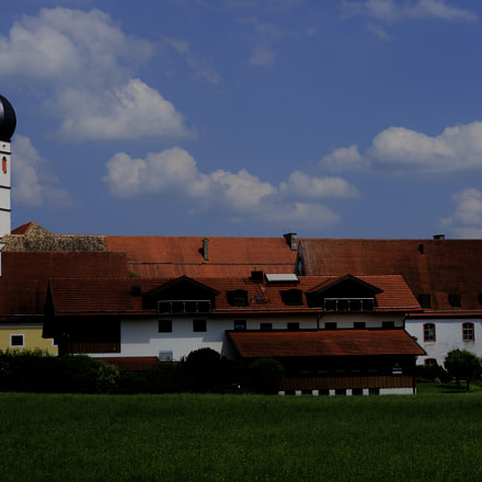 Kloster Beuerberg in ganzer, Sony ILCE-6000, Sony DT 50mm F1.8 SAM (SAL50F18)