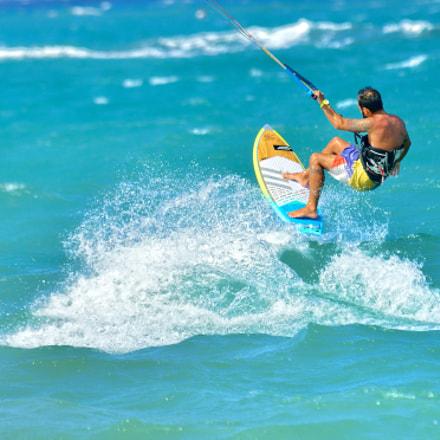 Kite surfing on Cabarete, Nikon D800E