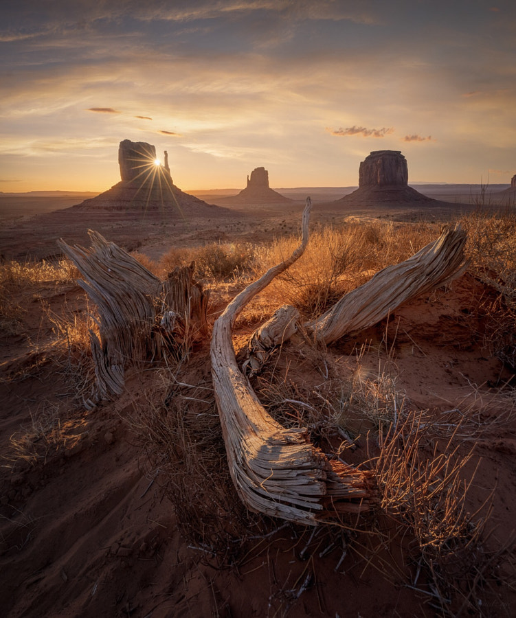 First light in Monument Valley by Mindz.eye  on 500px.com