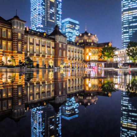 Reflections of Tokyo Station, Canon POWERSHOT S120