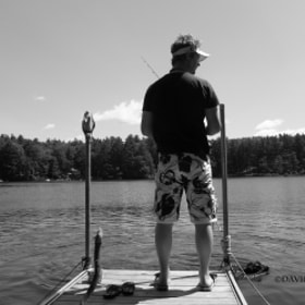 Fishing off the dock with my black labrador. by David Kajaks (davidkajak)) on 500px.com