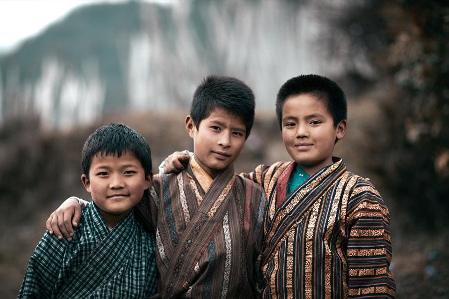 Bhutan: The Three Friends. by Sebastian Leonhardt on 500px.com